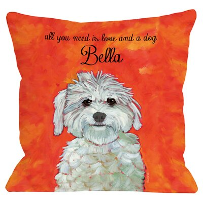 Personalized Maltese Throw Pillow