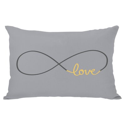 Infinite Love Lumbar Pillow Color: Mimosa Gray