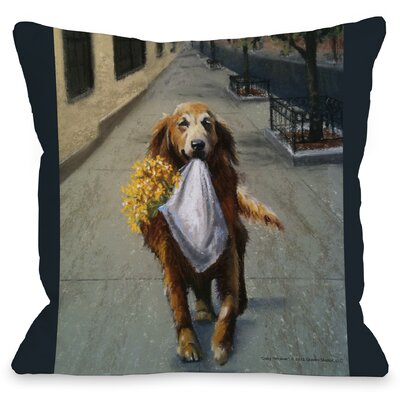 Doggy D�cor Daisy Retriever Throw Pillow
