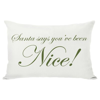 Holiday Naughty or Nice Reversible Lumbar Pillow