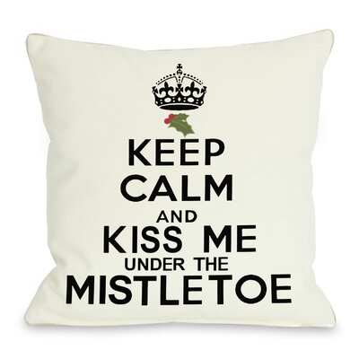Holiday Mistletoe Throw Pillow
