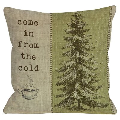 Come in From The Cold Tree Throw Pillow