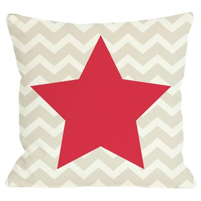 Holiday Chevron Star Reversible Throw Pillow