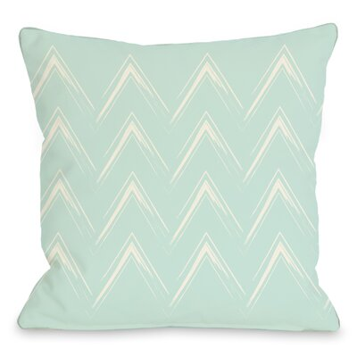 Sabrina Brush Chevron Throw Pillow Color: Fair Aqua