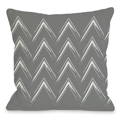 Sabrina Brush Chevron Throw Pillow Color: Gray