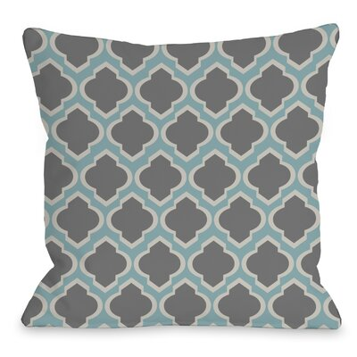 Macy Moroccan Throw Pillow Size: 18 H x 18 W, Color: Aqua Light Gray