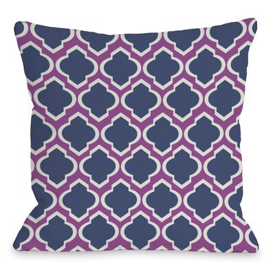 Macy Moroccan Throw Pillow Size: 18 H x 18 W, Color: Orchid Navy