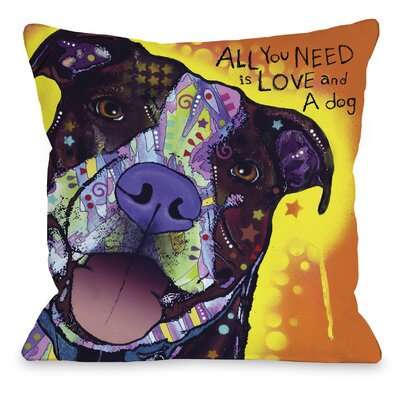 Doggy D�cor Daisy Pit Throw Pillow Size: 16 H x 16 W
