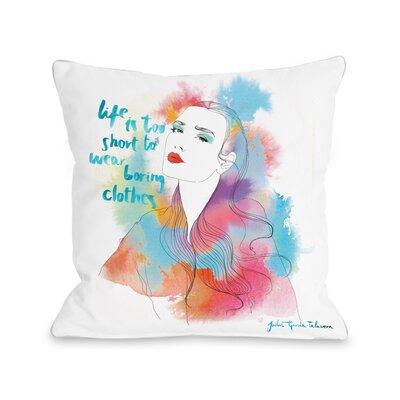 """Rainbow Beauty Pillow Size: 16"""" x 16"""" 72958PL16"""