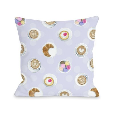 Mini Coffee Cupcake Macaroons Throw Pillow Size: 18 x 18