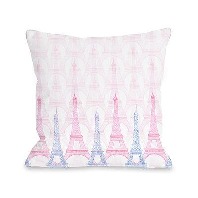 Eiffel Tower Throw Pillow Size: 16 x 16
