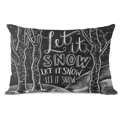 Let it Snow Woods Lumbar Pillow