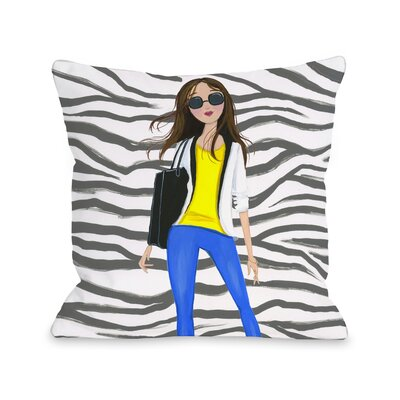 Style File 4 Throw Pillow Size: 18 x 18