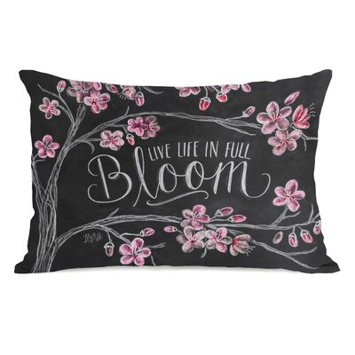 Live Life in Full Bloom Polyester Lumbar Pillow