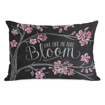 Live Life in Full Bloom Fleece Lumbar Pillow