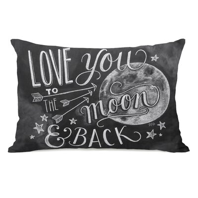 Love You to the Moon and Back Fleece Lumbar Pillow