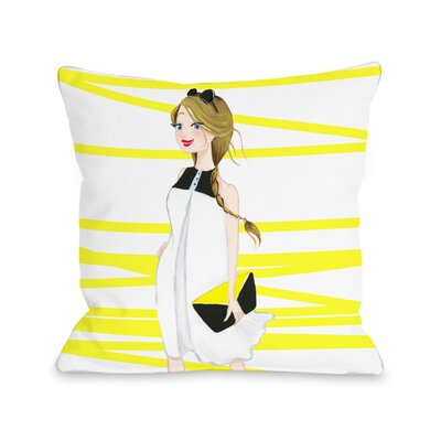 Style File 6 Throw Pillow Size: 18 x 18