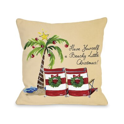 Ashworth Beachy Little Christmas Throw Pillow Size: 18 H x 18 W x 3 D