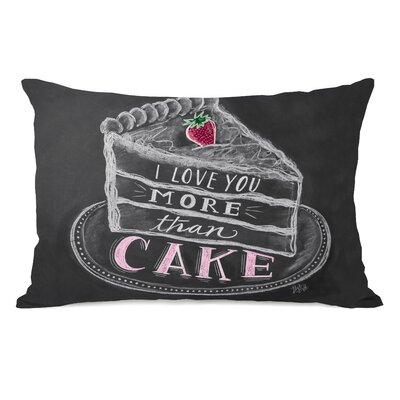 I Love You More Than Cake Lumbar Pillow