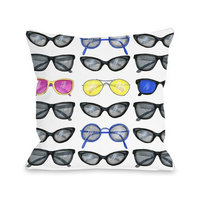 Style File 29 Sunglasses Throw Pillow Size: 18 x 18