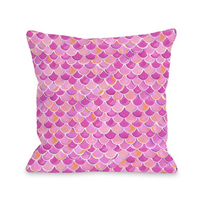 Love from NYC 13 Scale Pattern Throw Pillow Size: 18