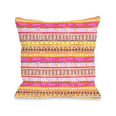 Love from NYC 15 Pattern Throw Pillow Size: 18 x 18