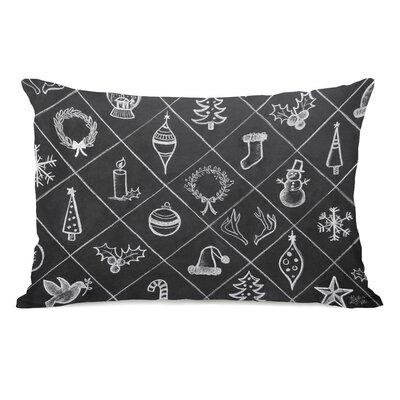 Christmas Cheer Pattern Lumbar Pillow