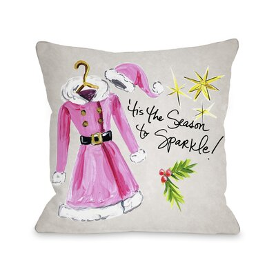 Season to Sparkle Throw Pillow Size: 16 x 16