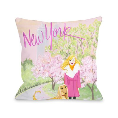 Love from NYC 25 New York Girl Dog Throw Pillow Size: 18 x 18