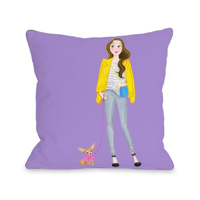 Love from NYC 5 Girl Chihuahua Throw Pillow Size: 16