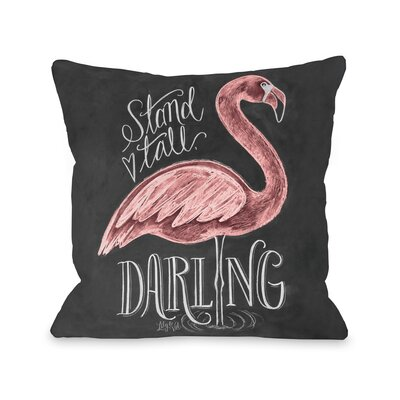 Stand Tall, Darling Fleece Throw Pillow