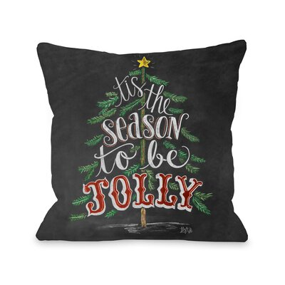 Tis the Season to be Jolly Throw Pillow