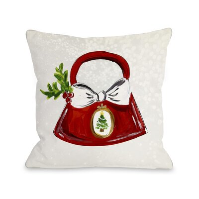 Glitzmas Bag Throw Pillow Size: 18 H x 18 W x 3 D