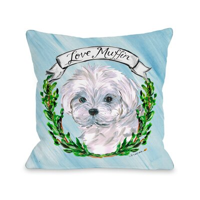 Maltese Throw Pillow Size: 16 H x 16 W x 3 D