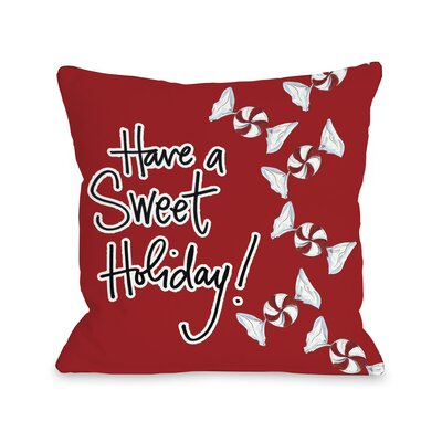 Sweet Holiday Throw Pillow
