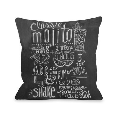 Classic Mojito Throw Pillow
