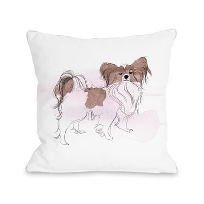 Papillion Throw Pillow Size: 16 H x 16 W x 3 D