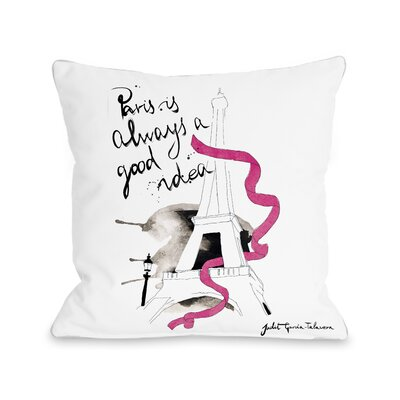 Paris Pillow Size: 18 x 18