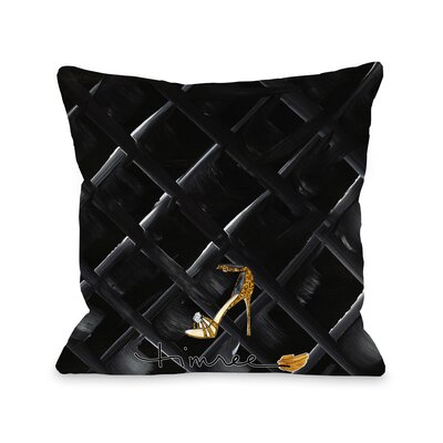 Bow Perfume Quilted Throw Pillow