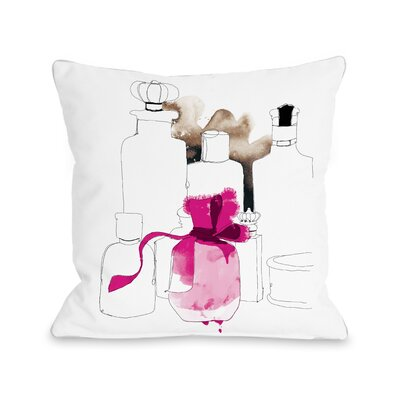 Perfume Shop Throw Pillow Size: 16 H x 16 W x 3 D