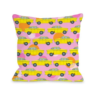 Love from NYC 12 Taxi Throw Pillow Size: 16 x 16