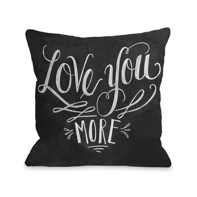 Love You More Fleece Throw Pillow