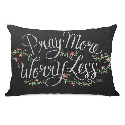 Pray More, Worry Less Lumbar Pillow