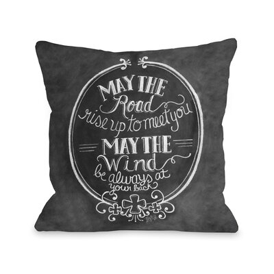 May the Road, May the Wind Throw Pillow