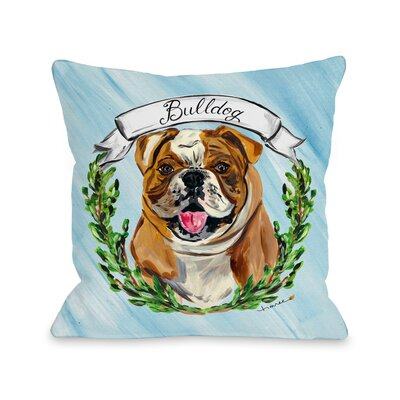 Bulldog Throw Pillow Size: 18 H x 18 W x 3 D