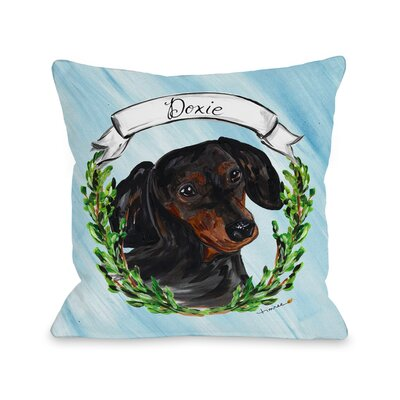 Doxie Throw Pillow Size: 18 H x 18 W x 3 D
