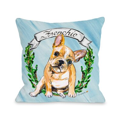 Frenchie Throw Pillow Size: 18 H x 18 W x 3 D