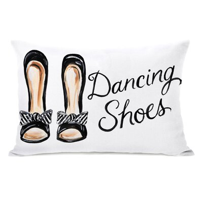 Dancing Shoes Striped Bow Lumbar Pillow