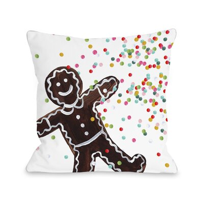 Gingerbread Sprinkles Throw Pillow Size: 18 H x 18 W x 3 D