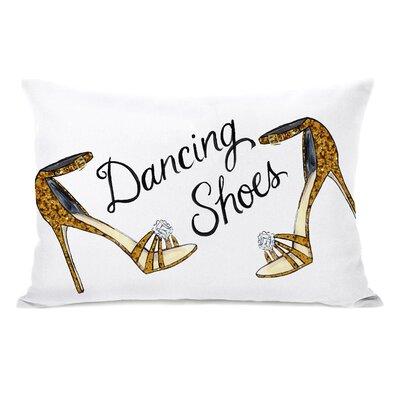 Dancing Shoes Jeweled Stripes Lumbar Pillow